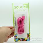 สายชาร์จ Micro USB GOLF Colorful สายกลมยาว 2 เมตร (สีชมพู)
