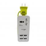 KAKUDOS PORTABLE USB 4 PORTS (สีเขียว)