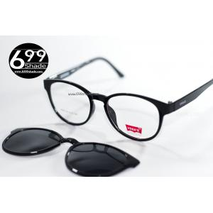 [Vegas8005 ดำเงา] กรอบแว่นคลิปออนแม่เเหล็ก เบา ยืดหยุ่น บิดงอได้