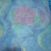 ม่านกันยุงแบบพิมพ์ลาย ไชส์ 100 สีฟ้า/ดอกไม้ประดับลาย
