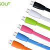 สายชาร์จ Micro USB GOLF Colorful สายแบน