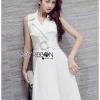 🎀 Lady Ribbon's Made 🎀Lady Nelly Neutral Coat Dress with Belt โค้ทเดรสพร้อมเข็มขัด