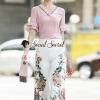Seoul Secret Say's... Summer Vee Bohe Flora Print Pants Set