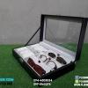 กล่องเก็บนาฬิกาและแว่นตา สีดำ