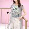 Seoul Secret Say's... Girly Bohe Flora Print Chiffon Long Outer Set
