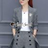 Seoul Secret Say's... Chic Outer Bee Clasp Stripy Suite Set
