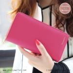 กระเป๋าสตางค์ ใบยาว สีชมพูเข้ม รุ่น Beauty KQueenStar