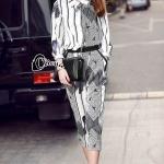 Cliona made' Black Hawks Sportswear Long Sleeves Top + Pant Set