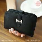 กระเป๋าสตางค์ ใบกลาง สีดำ รุ่น Missy M