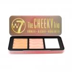 W7 The Cheeky Trio Bronzer Blusher Highlight Palette