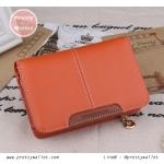 กระเป๋าสตางค์ Oudishengma สีส้ม ใบสั้น