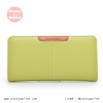 กระเป๋าสตางค์ Oudishengma สีเขียวอ่อน ใบยาว