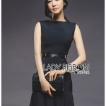 &#x1F380 Lady Ribbon's Made &#x1F380 Lady Nana Layered Peplum Black Dress with Leather Belt