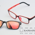 Zupio 1301-C4 แว่นเด็ก ดำ-แดง ปรอททอง