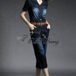 Moto Tie-waist jumpsuit with belt by Sweet Bunny