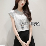 &#x1F380 Lady Ribbon's Made &#x1F380 Lady Margaret Modern Vintage High-Neck Lace Sleeveless Top