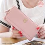 กระเป๋าสตางค์ ใบยาว Pretty Zys สีชมพู รุ่น Proud to Pretty
