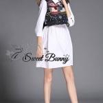 Owl outer longline shirt oversized dress by Sweet Buuny
