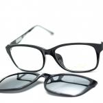 [LD7003 ดำเงา ปรอทเงิน ] กรอบแว่นคลิปออนแม่เเหล็ก เบา ยืดหยุ่น บิดงอได้ ส่งฟรี