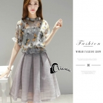Clioana Made' Silver Grey(butterfly)Butterly Luxury Set Dress