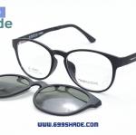 [Zenith 001 ดำด้าน] กรอบแว่นคลิปออนแม่เหล็ก