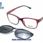 [Smart 8001 แดง] กรอบแว่นคลิปออนแม่เเหล็ก