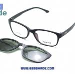 [Smart 8001 ดำด้าน] กรอบแว่นคลิปออนแม่เเหล็ก