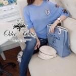 &#x2605Portrait blue t-shirt&#x2605 &#x2661Odee&Cutie Daily Fashion 2016