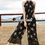 Seoul Secret Say's... Chiffon Starfish Print Ornamental Jumpsuit