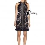 Cliona made' Lady Angel Extra Luxury Black Lace Dress