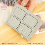 กระเป๋าสตางค์ ใบสั้น สีเทา รุ่น Mini Cube