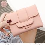 กระเป๋าสตางค์ ใบกลาง สีชมพู รุ่น Proud Story