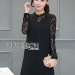 &#x1F380 Lady Ribbon's Made &#x1F380 Lady Annie Smart Casual Black Lace and black dress
