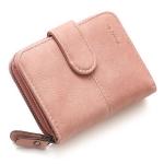 กระเป๋าสตางค์ ใบสั้น สีชมพู รุ่น Beauty Girl mini