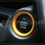 แหวนครอบปุ่ม Start Mazda 3 สีทอง