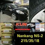 """ยาง Nankang NS2 > 215/35/18 > 8.5"""""""