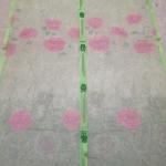 ม่านกันยุงแบบพิมพ์ลาย ไชส์ 100 สีเขียวอ่อน/ดอกกุหลาบ