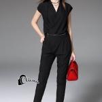 Cliona Made' Fashionista V-Cross Jumpsuite