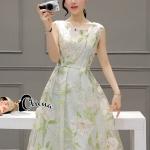 Cliona Made' Rosetta Pastoral Green Dress -