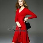 Pinstripe shift knit dress by Sweet Bunny