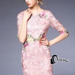 Cliona made 'Luxury Emroidered Roses Lace Dress - Mini dress