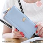 กระเป๋าสตางค์ ใบยาว Pretty Zys สีฟ้า รุ่น Proud to Pretty