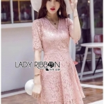 &#x1F380 Lady Ribbon's Made &#x1F380 Lady Olivia British royal Pretty Lace Mini Dress