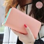 กระเป๋าสตางค์ ใบยาว สีชมพูโอรส รุ่น Beauty KQueenStar