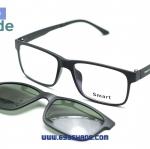 [Smart 8004 ดำด้าน] กรอบแว่นคลิปออนแม่เเหล็ก