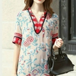 Sweet Bunny Present... Embroidered Floral Dress