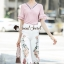 Seoul Secret Say's... Summer Vee Bohe Flora Print Pants Set thumbnail 1