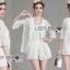 &#x1F380 Lady Ribbon's Made &#x1F380 Lady Edita 3-Piece White Jacket and Shorts Set thumbnail 3