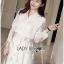 &#x1F380 Lady Ribbon's Made &#x1F380 Lady Leslie Classic Twist Studded White Lace Shirt Dress thumbnail 5