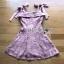 🎀 Lady Ribbon's Made 🎀Lady Eleanor Summer-Time Feminine Ribbon-Strap Lace Mini Dress thumbnail 5